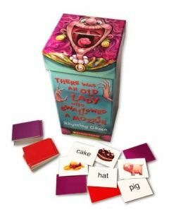 There Was an Old Lady Who Swallowed a Mozzie Rhyming Card Game (Ages 4+)