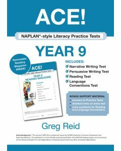 ACE! NAPLAN*-style Literacy Practice Tests Year 9 with Year 9 Reading Magazine