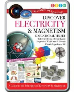 Wonders of Learning: Discover Electricity and Magnetism STEM Educational Tin Set