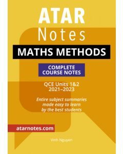 ATAR Notes: QCE Maths Methods Units 1&2 Notes