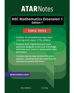 ATAR Notes: HSC Mathematics Extension 1 Topic Tests
