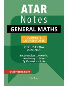 ATAR Notes: QCE General Maths Units 3&4 Notes