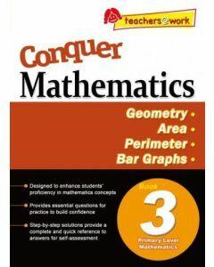Conquer Mathematics Book 3: Geometry, Area, Perimeter, Bar Graphs