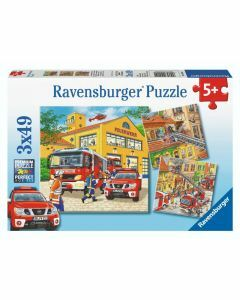 Fire Brigade Run 3 x 49 Piece Puzzles (Ages 5+)