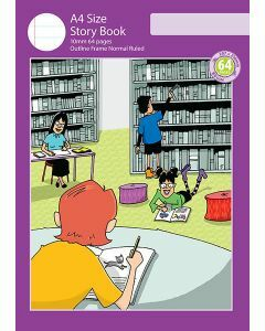 A4 Story Book 10mm Normal Ruled with Outline Frame 64pp