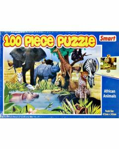 African Animals 100 Piece Puzzle