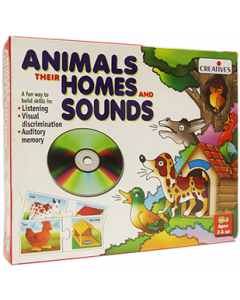 Animals, Their Homes and Sounds with CD (Ages 3+)
