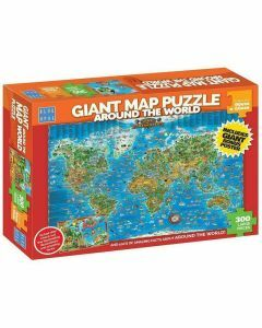 Giant Map 300 Piece Puzzle - Around the World (Ages 9+)