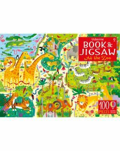Usborne Book and Jigsaw: At the Zoo 100 Pieces (Ages 5+)