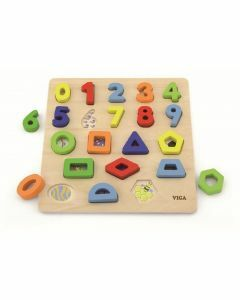 Block Puzzle: Numbers & Shapes (Ages 18+ months)