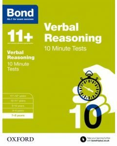 Bond 11+: Verbal Reasoning: 10 Minute Tests for 7 to 8 years