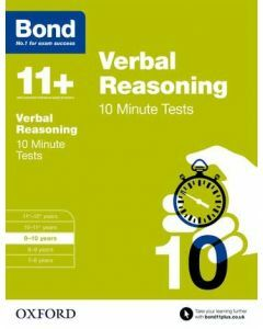 Bond 11+: Verbal Reasoning: 10 Minute Tests for 9 to 10 years