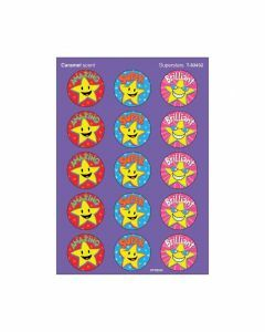 Scratch 'n Sniff Stinky Stickers Caramel scent & Superstars