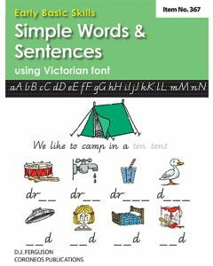 Early Basic Skills 2: Simple Words and Sentences using Victorian font (No. 367)
