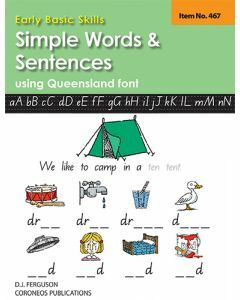 Early Basic Skills 2: Simple Words and Sentences using Queensland font  (No. 467)