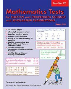Mathematics Tests for Selective Schools Years 5-8 (Basic Skills No. 49)