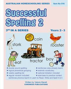 Successful Spelling 2 (Australian Homeschooling Series) (Item no. 516)