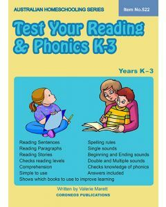 Test Your Reading and Phonics K to 3 (Australian Homeschooling Series Item no. 522)