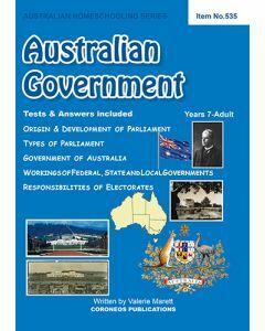 Australian Government (Australian Homeschooling Series) (Item no. 535)