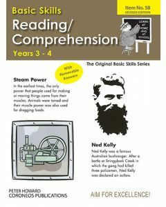 Reading / Comprehension Level 2 Yrs 3 to 4 (Basic Skills No. 58)