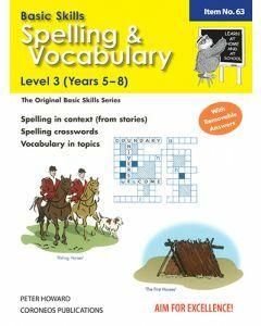 Spelling / Vocabulary Level 3 Yrs 5 - 8 (Basic Skills No. 63)