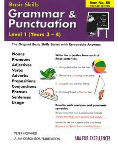 Grammar & Punctuation Level 1 Yrs 3 - 4 (Basic Skills No. 85)