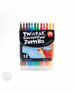Micador Twistaz Colourfun Jumbo Crayons 12pk