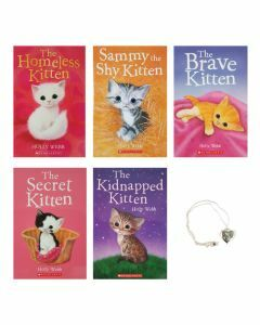 Cutest Kittens 5-Book Pack with Necklace