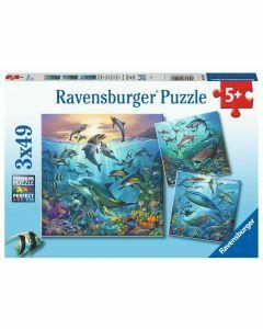 Ocean Life 3 x 49 Piece Puzzles (Ages 5+)