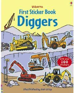 Usborne First Sticker Book - Diggers (Ages 3+)