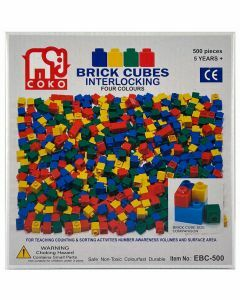 Coko Cube Bricks – 4 Assorted Colours 500 pc set (Ages 5+)