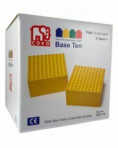 Coko Cube Bricks Base 10 Flats 10 pc set (Ages 5+)