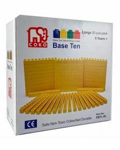 Coko Cube Bricks Base 10 Longs 50 pc set (Ages 5+)