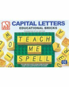 Coko Learning Bricks: Capital Letters 40 pc set foundation script (Ages 4+)
