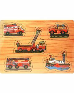 Emergency Vehicles Wooden Puzzle