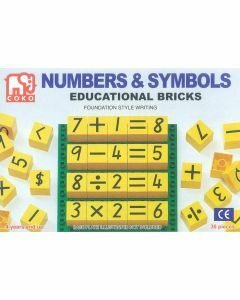 Coko Learning Bricks: Numbers & Symbols 36 pc set (Ages 4+)