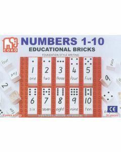 Coko Learning Bricks: Numbers Counting 1-10 30 pc set (Ages 4+)