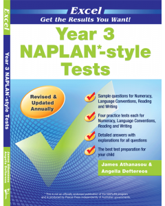 Excel NAPLAN*-style Tests Year 3 [Temporarily out of stock]