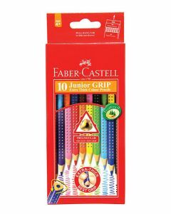 Faber-Castell Triangular Junior Grip Coloured Pencils 10pk