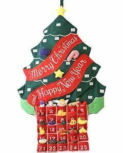 Green Advent Calendar Wall Hanging