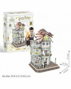 Hogwarts Gringotts Bank 74 Piece 3D Puzzle (Ages 8+)