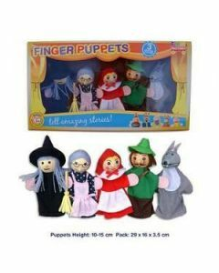 Red Riding Hood 5 Piece Finger Puppet Set (Ages 3+)