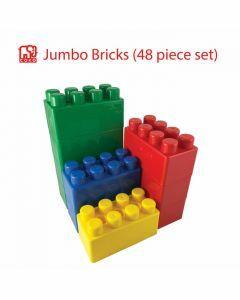 Coko Jumbo Blocks 2 × 4 stud 4 assorted colours 48 pcs