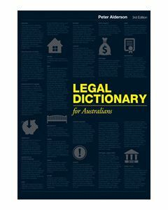 Legal Dictionary for Australians Third Edition