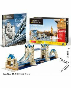 National Geographic 3D Puzzle & Book - London Tower Bridge (Ages 8+)