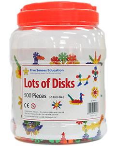 Lots of Disks 500 pieces (2.3cm diameter) (Ages 4+)