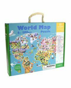 World Map 500 Piece Puzzle (Ages 6+)
