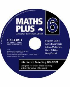 Maths Plus Australian Curriculum  Edition Interactive Teaching CD-Rom 6 (Available to order)
