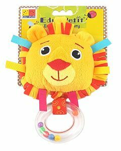 Baby Rattle Book: Leo the Lion (Ages 0-24 months)