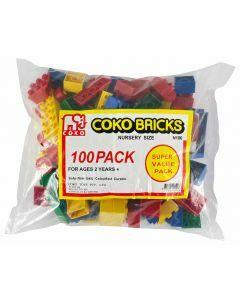 Coko Nursery Bricks assorted 100 pc set (Ages 2+)